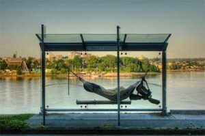 hammock bus stop 300x199 The Most Unique Bus Stop in The World