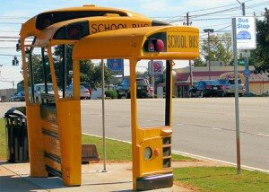 school bus stop 300x214 The Most Unique Bus Stop in The World