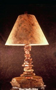 the most unique lamp design Stacked Rock Lamp