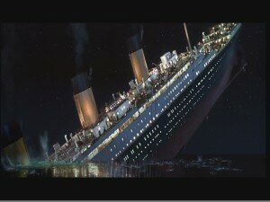 sinking of titanic in the movie titanic 300x225 10 Interesting Facts About Titanic