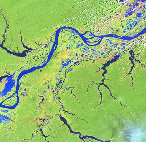 Amazon River facts: map of amazon