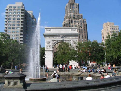 New York facts: Washington Square Park in Greenwich Village