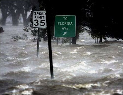 Hurricane Katrina facts: Flooded water