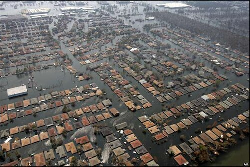 Hurricane Katrina facts: area covered with water