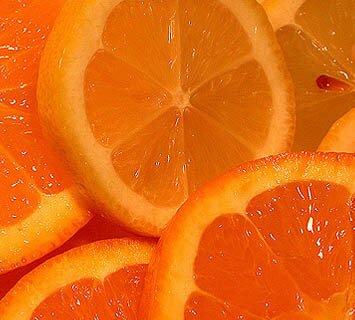 Orange facts: slices of orange