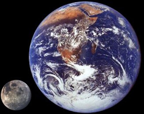 Moon facts: moon and earth