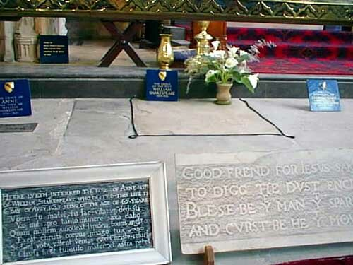 Shakespeare facts: grave