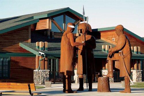 North Dakota facts:The Big Hidatsa village site