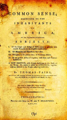 Thomas Paine facts: common sense