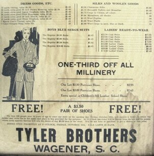South Carolina facts: Tyler Brothers Work Shoe and Boot Company