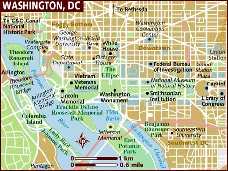 Washington DC facts map 10 Interesting Washington DC Facts