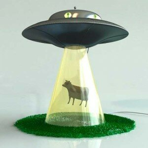 the most unique lamp design Alien Abduction Lamp