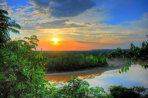 Amazon rainforest facts: Sunset