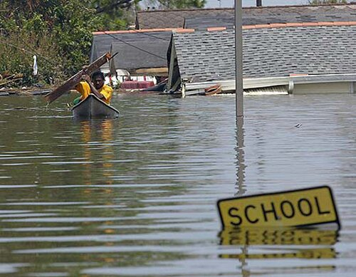 Flood facts: Flood at School Area