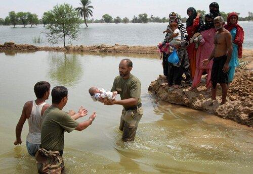 Flood facts: saving baby