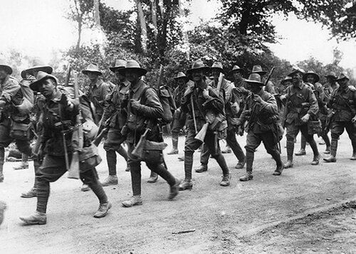 WW 1 facts: Marching Australian Troops