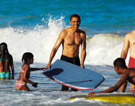 Obama facts: obama on beach
