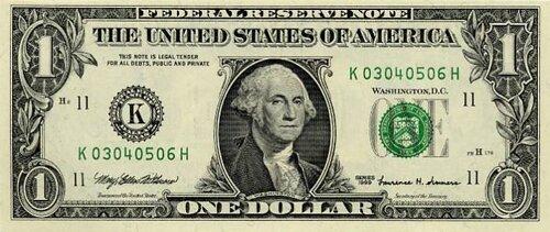 George Washington facts: Washington paper money