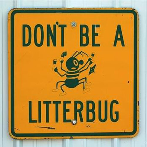 Littering facts: Littering Sign