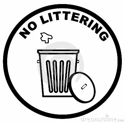 Littering facts: no littering sign