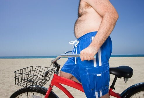 Health facts: overweight man