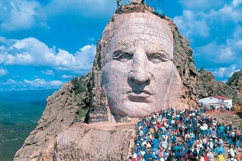 South Dakota facts: The Crazy Horse mountain carving