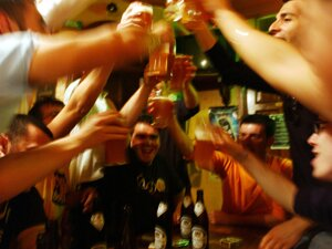 Alcohol facts: drinking party