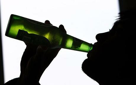 Alcohol facts: man drinking alcohol
