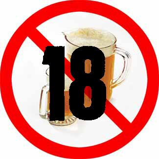Alcohol facts: no alcohol sign