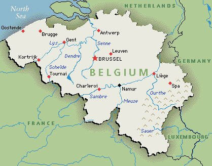 Belgium facts: map