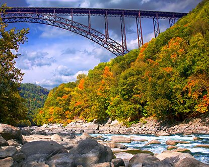 West Virginia facts: new river gorge bridge