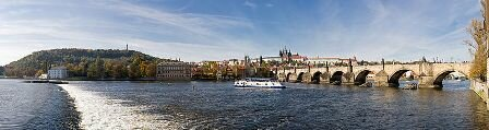 Facts about Vltava - Flowing under the bridge in Prague