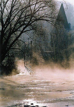 Facts about Vltava - Fog above Vtlava river