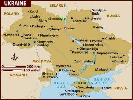 Facts about Ukraine - Map of Ukraine